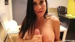 Horny Big Titted Milf Handjob Wax panties