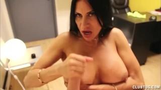 Horny Big Titted Milf Handjob