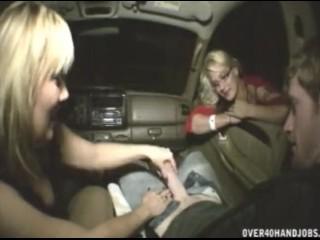 Teen Sits On Dildo Handjob In The Car, Handjob Milf Pornstar
