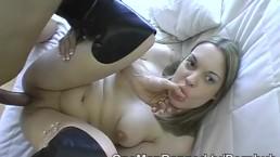 Good cocksucking woman eats a cumshot