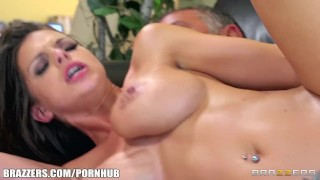 Brooklyn Chase has some huge tits and a passion for anal sex porno