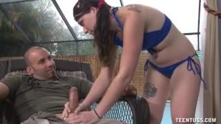 Poolgirl Handjob Reality anal