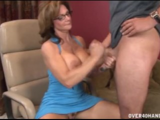 mature woman seducing young