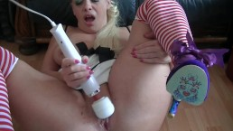 dirty slutty talk, gagging on dildos, spitting and pee on floor Sookie SOLO