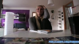 PublicAgent HD Hot blonde Engilsh tutor fucks her student