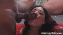 Busty superstar Anissa Kate gets a DP