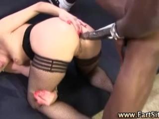 Interracial anal creampie