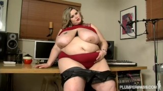 Preview 5 of Big Tit SSBBW Sings Into and Fucks Huge Cock