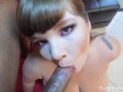 BBW Lexxxi Luxe has Her Huge Tits Oiled and Fucked by BBC