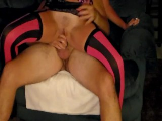AMAZING amateur squirter rides cock up ass squirts across room over & over