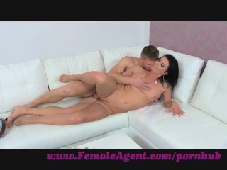 FemaleAgent. Double cumshot surprise for MILF