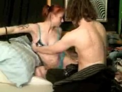 smokin redhead goth milf daydreams bout her man,gets painted fucked n toyed