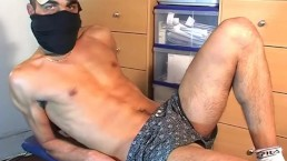 A real arab straight guy get wanked his huge cock in spite of him!