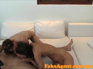 FakeAgent Two sex kittens ride big dick