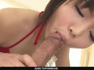 Megumi Shino Takes Her Dress Off To Get Creampied