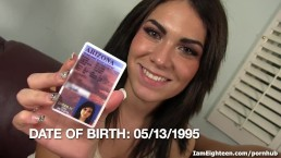 Cute Teen's First Time On Camera Gets Hardcore
