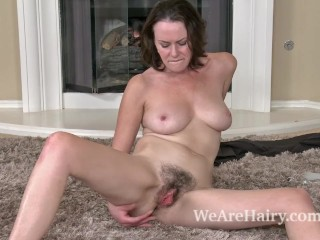 Sweet Hairy Babes Fucking, Hairy woman VeronicA Snow relaxes after working Masturbation Toys MILF Pornstar