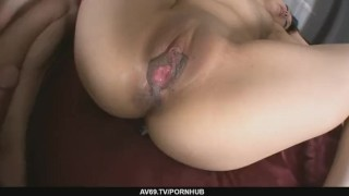 Office Teen Aiko Hirose´s Shave Pussy Creamed