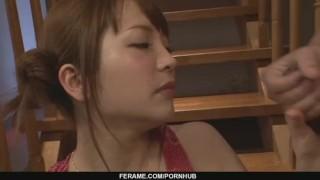 A a blow job group maomi nakazawa gives sex japanese blowbang milf