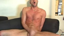 A real straight guy get wanked his huge cock by us (serviced)