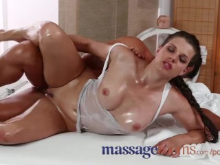 Girls Going Down On Each Other Fucking, Massage Rooms Horny girl gets big boobs oiled before a good hard fuck Babe