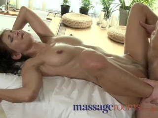 Massage Rooms Teens take big dicks and get creampie in their tight pussy