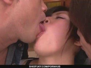 Preview 1 of A busty asian blowjob and fucking with Kyouka Mizusawa