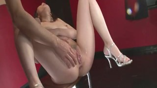 Tomoka Sakurai In Lingerie Gets Her Pussy Fingered  shiofuky close-up asian oriental amateur mom milf squirting natural-tits japanese fingering mother small-tits orgasm high-heels landing strip