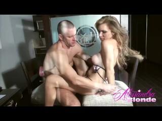 Alessandra Blonde and Sebastian jerk off