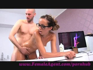 FemaleAgent. Agent gets all oiled up by massuse stud