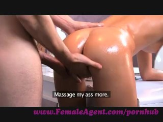 Preview 6 of FemaleAgent. Agent gets all oiled up by massuse stud