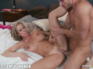 Busty MILF Brandi Love daydreams about big hard cocks