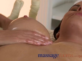 Massage Rooms Big boobs girls get oiled up and enjoy hardcore fucking