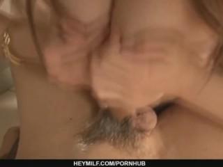 Cute Haruka Oosawa in lingerie sucking dick!