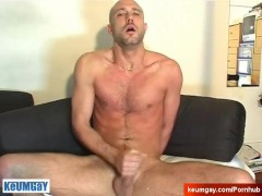 David a real straight guy serviced! (get wanked his huge cock by a guy).