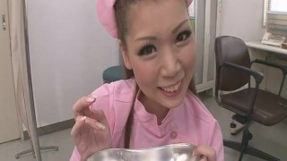 On Her Knees, Ayumi Kobayashi Gives A POV Blowjob