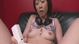 Rio Kagawa Fucks Herself With A Big Vibrator  sex-toy masturbation dildo asian oriental mom solo toys milf natural-tits japanese brunette heels heymilf mother adult toys