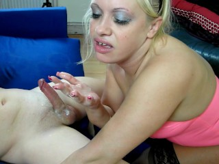 Latex Sookie deepthroats, spits and gets a messy cum dribbling finale.