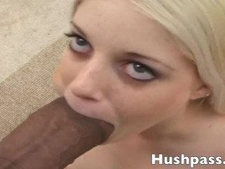 Skinny Teen Blow Jobs Tiny 18 y.o. White Girl Charlotte gets split wide open by Blackzilla