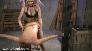 Wasteland FemDom Goddess Starla Spanks, Paddles and fucks Ava with Strapon dildo small tits lesbian redhead lesbian femdom spanking latex lesbian squirting orgasm lesbian domination strapon goddess starla bdsm lesbian bdsm very skinny fetish wasteland.com paddling