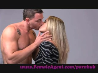 New Cum Swallow FemaleAgent. Smoking hot new female agent seducees stud