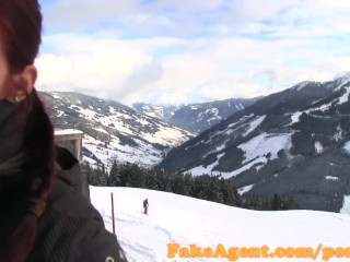 1950 Blowjob Redtube FakeAgent Sex casting on a skiing holiday off duty agent