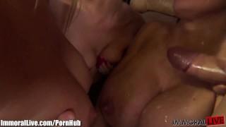 CUM SEE THIS! Hot pornstars having an orgy!