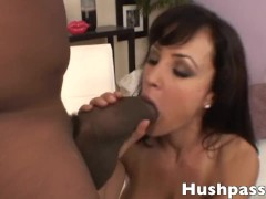 Lisa Ann has her pussy split wide open by Shorty Mac's coke can of a dick!