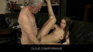 Old dick drills young ass hole
