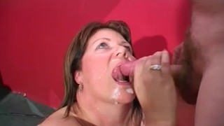 mature woman with cumshot