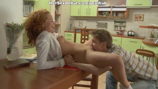 Chick banged and ginger in kithen the seduced freely homemade blow