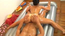 slippery nuru massage gymnastic