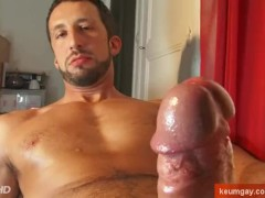 Hot italian stalion get wanked his huge cock by us!