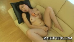 Miharu Kase: Pretty Japanese Teenager Having Sex For The First Time